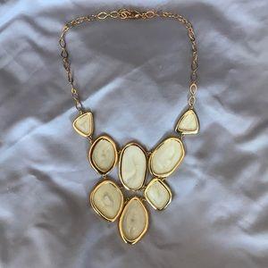 Stella & dot necklace & jewelry bag